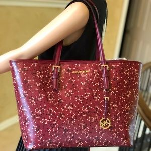 Michael kors jet set travel mulberry star tote bag